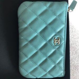 Chanel Mini O-Case Tiffany Blue 19s series